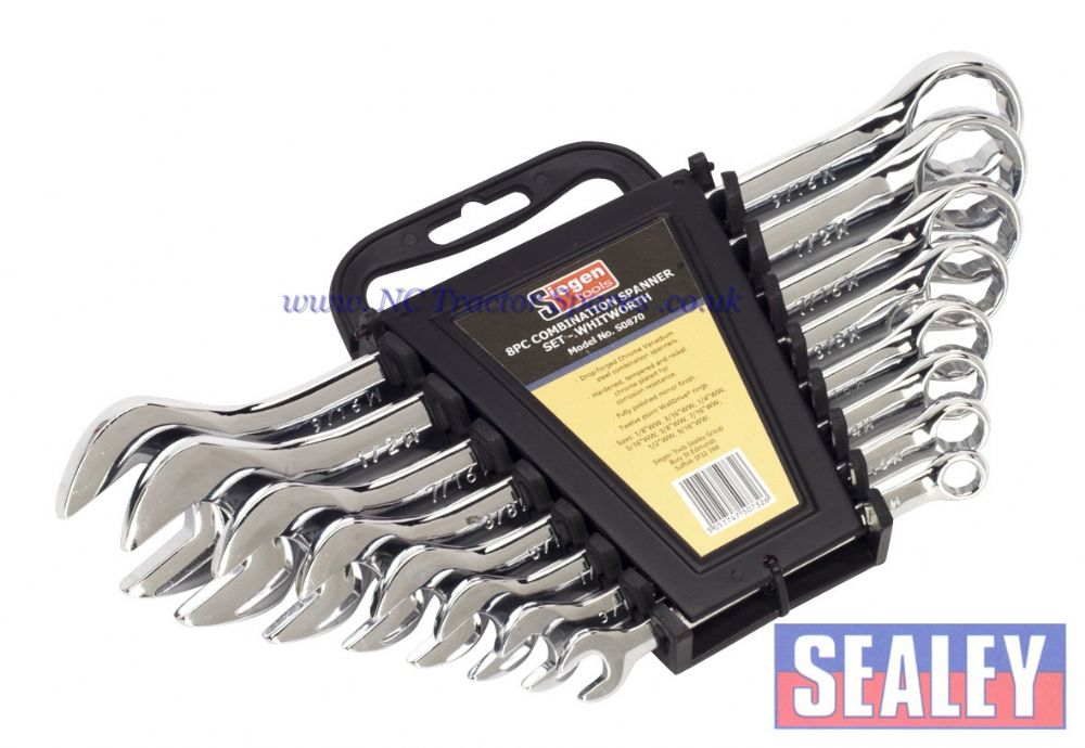 Combination Spanner Set 8pc Whitworth